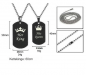 Preview: Partner Set Dog Tag Anhänger His Queen Her King