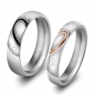 "Preview: Partnerringe / Eheringe 2er-Set ""Real Love"" mit Innengravur"