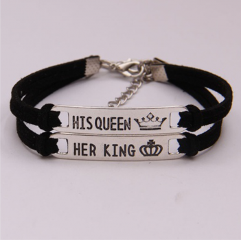 1 Paar Armbänder His Queen Her King
