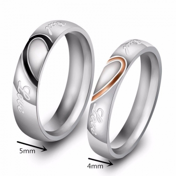 "Partnerringe / Eheringe 2er-Set ""Real Love"" mit Innengravur"