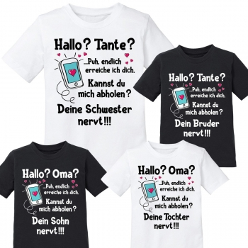 Kindershirt: Hallo Tante / Oma