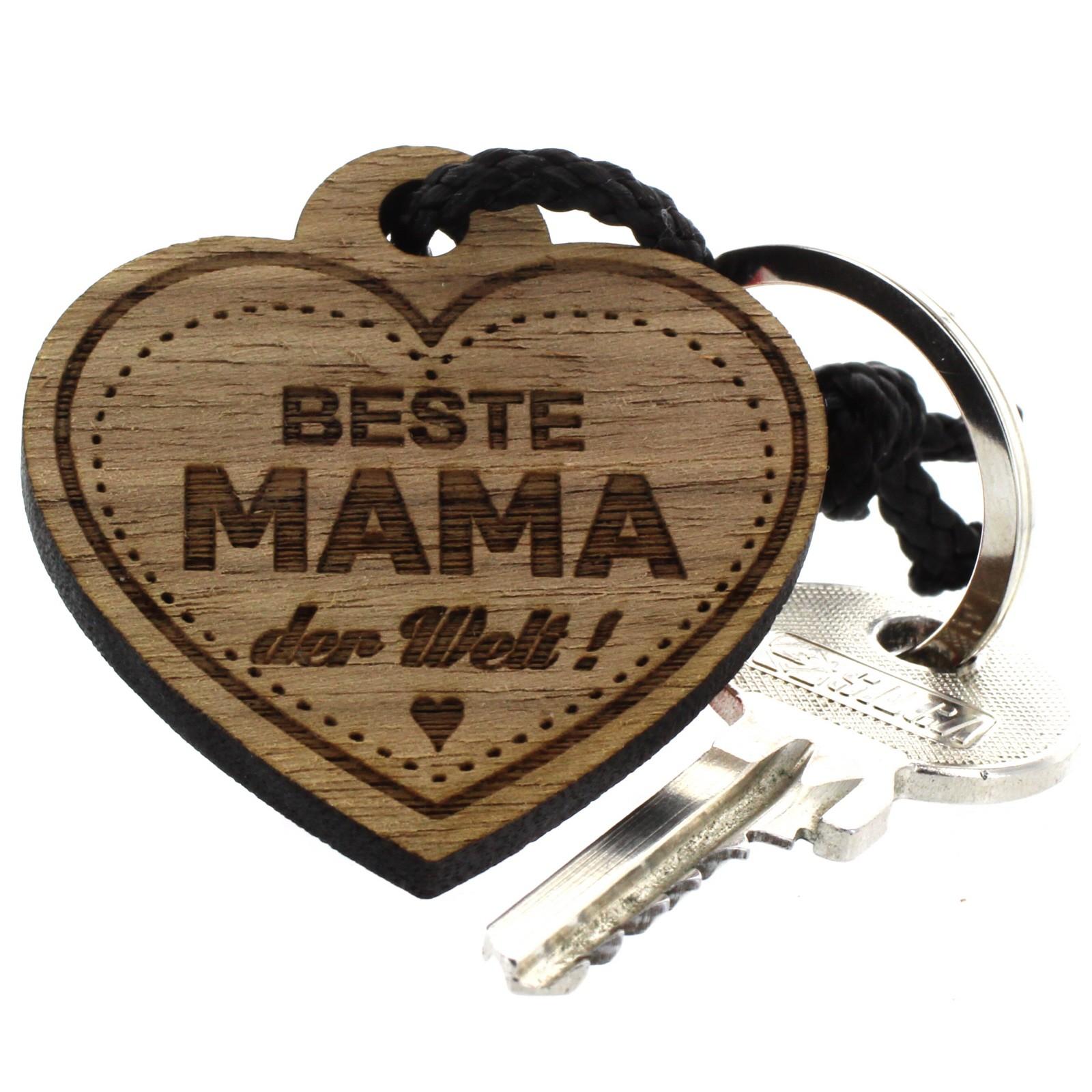Geschenk Anhänger Familie Gravur 4 Seiten Schlüsselanhänger Aus Holz Akazie