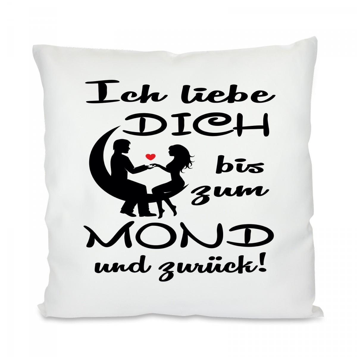 Schön Ich Liebe Dich Bis Zum Mond Galerie Von Kissen Mit Motiv Modell: