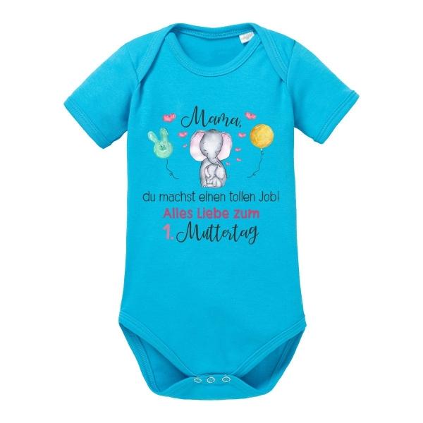Muttertag Du Machst Einen Tollen Job Mama Baby Bio-Langarm-Body
